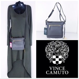 BNWT Vince Camuto Gray Zipper Top Crossbody